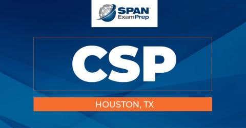 CSP Workshop - Houston, TX - December 7-9, 2021
