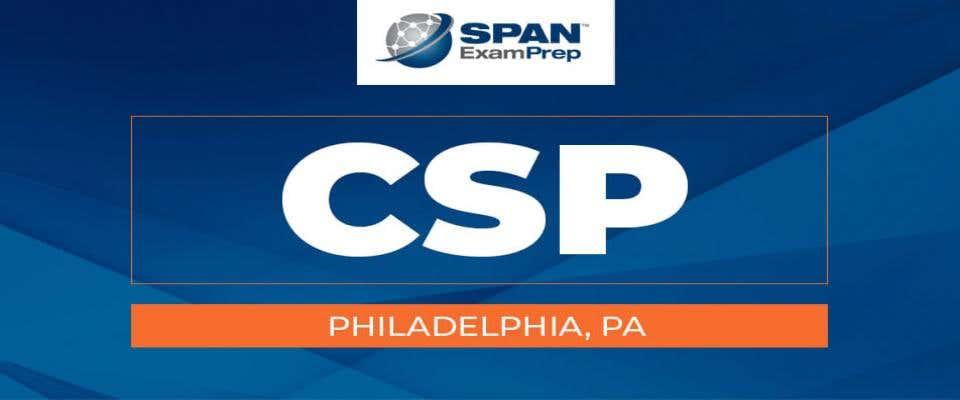 CSP Workshop - Philadelphia, PA - July 13-15, 2021