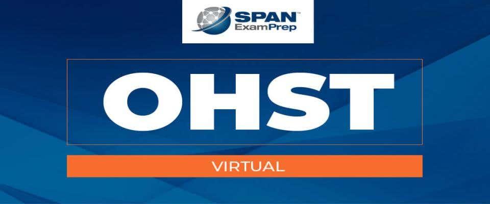 OHST Virtual Workshop - May 18-20, 2021